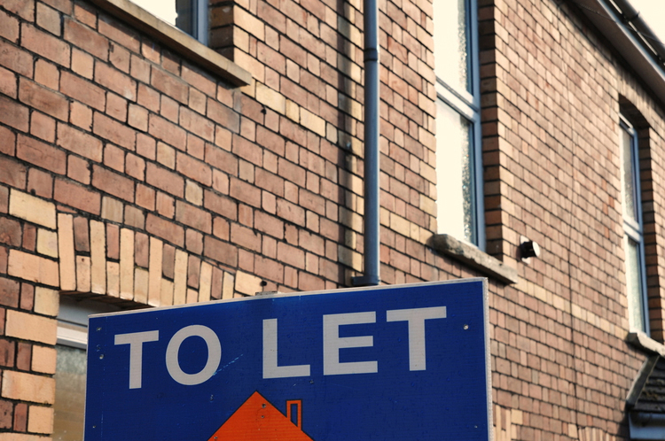 buy to let sign outside a property in Great Britain