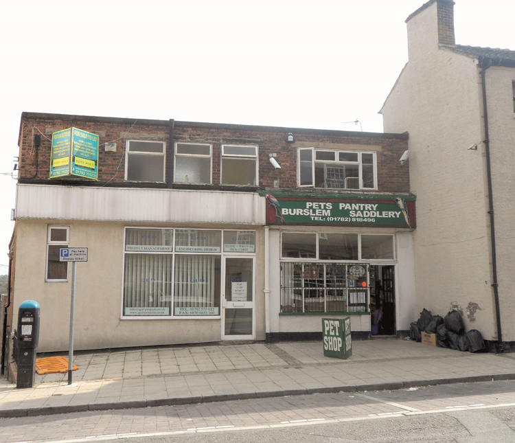 Burslem retail shop sold by UK auction