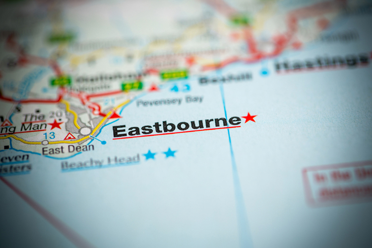 England Eastbourne map