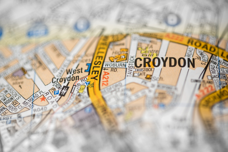 Map of Croydon UK England