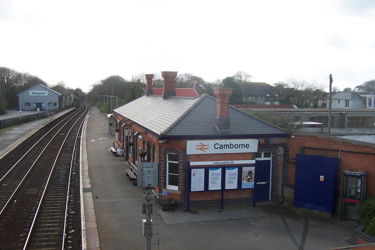 Aerial View of Camborne train station