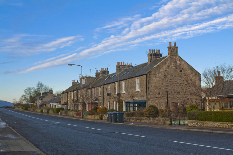 houses at Allendale Hexham Northumberland North East England