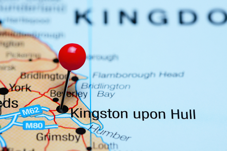 Map of Hull England