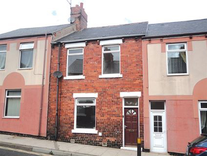 two bed terraced house in Peterlee for sale in the auction
